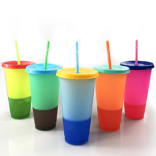 Colour Changing Tumbler Cups (set of 5)