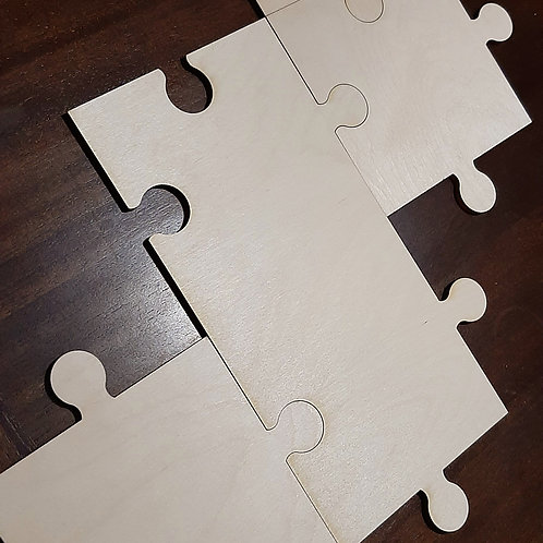 Double Puzzle Piece 16inx8.5in 1/4in baltic birch