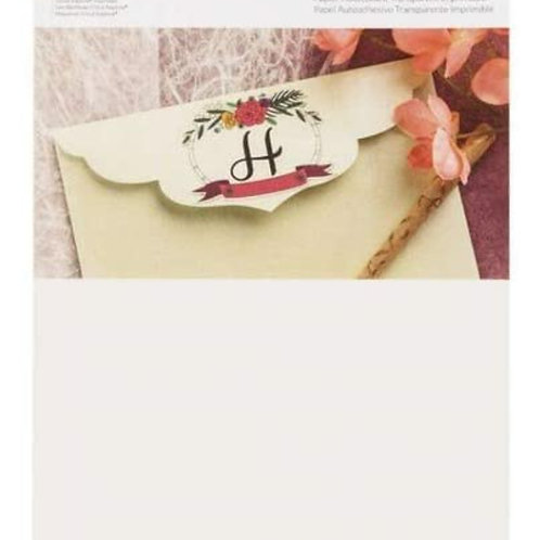 Cricut Clear Printable Sticker Paper 5 Sheets