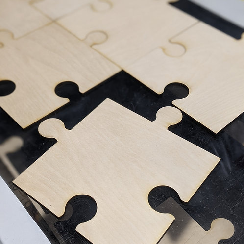 Puzzle Piece 8.5inx8.5in Baltic Birch 1/4in unfinished