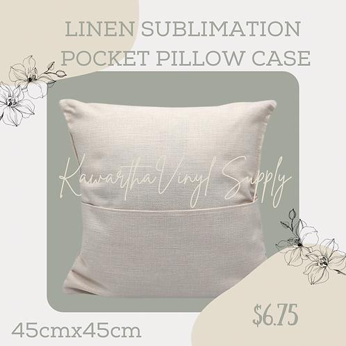 Sublimation Linen pocket pillow case 45cmx45cm