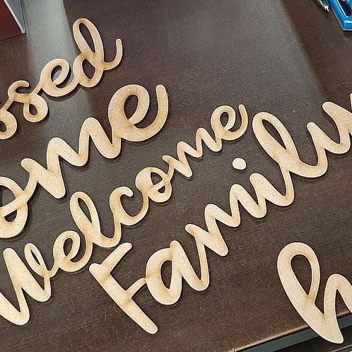 Wooden Word Cutouts