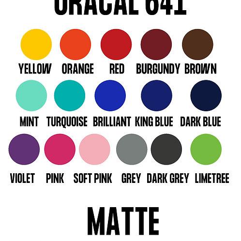Oracal 641 Matte Vinyl