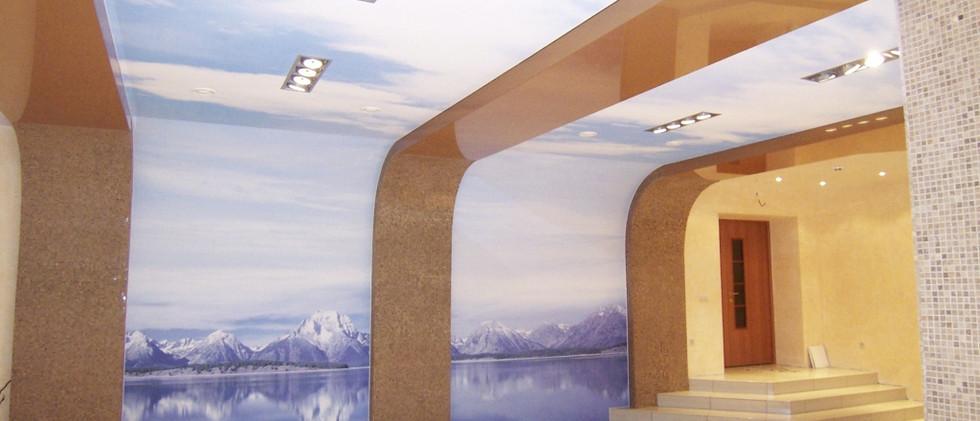 עיצוב קיר לסלון
