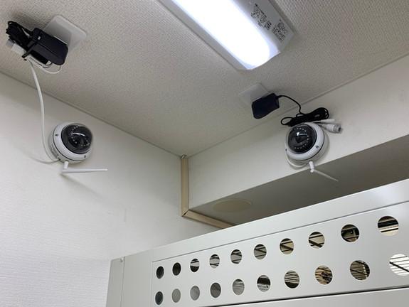 防犯カメラが、全部で6台設置