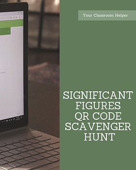 Engaging significant figures chemistry lesson plan. Free activity QR code scavenger hunt.
