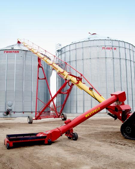 Westfield manufactures portable grain augers and bin unloading equipment | Bentzinger Tire & Equ
