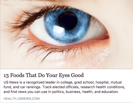 13 Foods That Do Your Eyes Good
