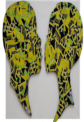 QBC1129 – African Lovers -Yellow, Green and Black