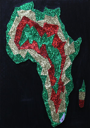 QBC1064 – Map of Africa - Green, Gold and Red