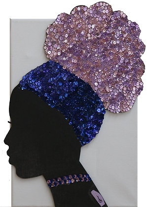 QBC1109 – African Princess - Pink and Blue
