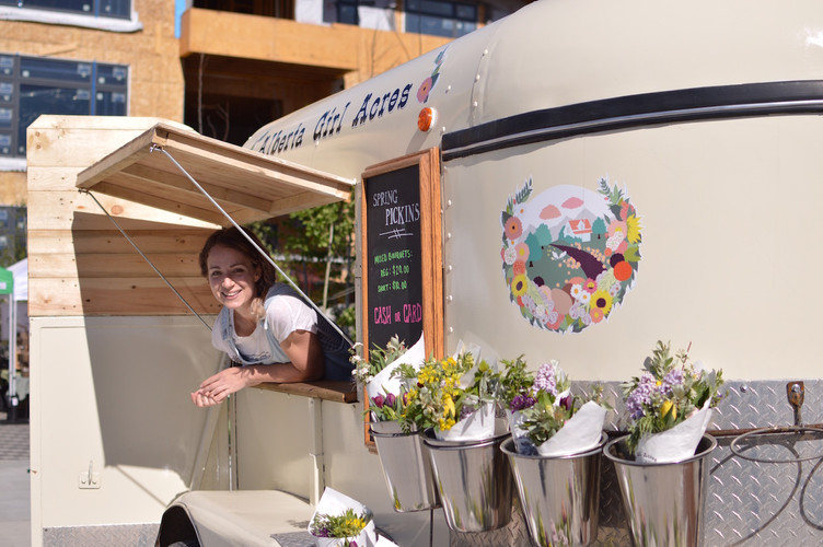 The Alberta Girl Acres Flower Trailer