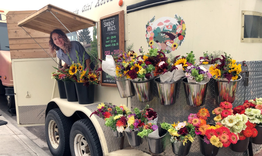 Alberta Girl Acres' Flower Trailer