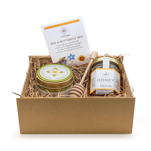 Candle, Honey & Seeds Gift set