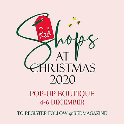 Red Shops at Christmas - Marketing Logo.