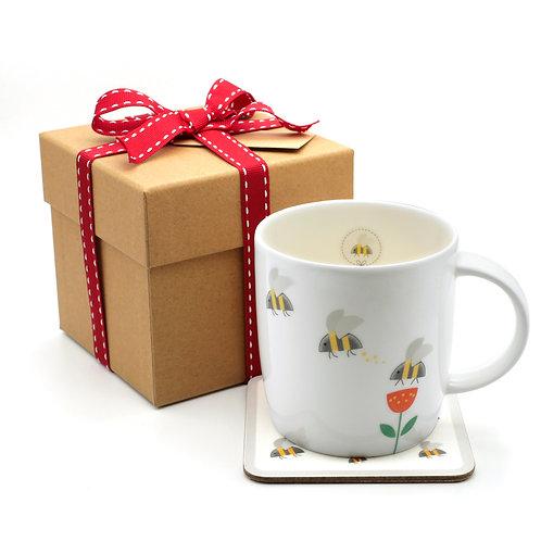 Mug & Coaster Christmas Gift Set