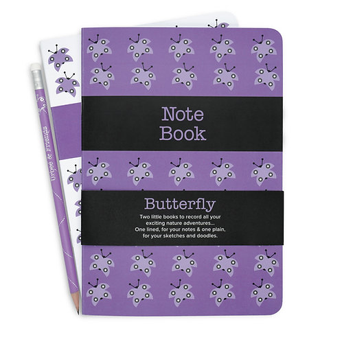 Butterfly Note & Sketch Book Set