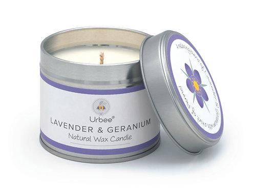 Lavender & Geranium Candle Tin