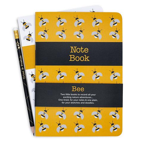 Bee Note & Sketch Book Set