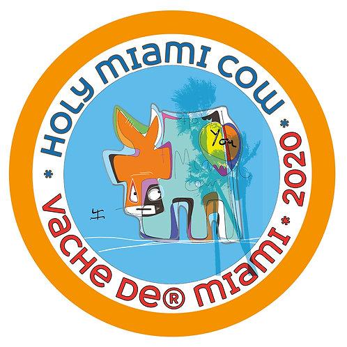 "Sticker de l'exposition ""Normandy Miami"""