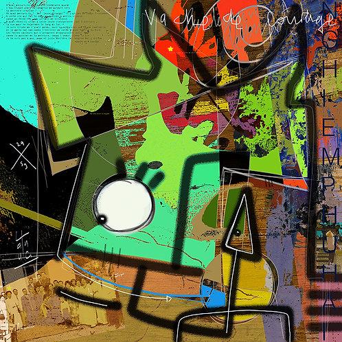 VanLuc Digital Art Vache de Courage
