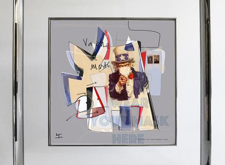 Vache de® Mask !!! Nouvelle création digital art développée sur une tablette Wacom© par VanLuc