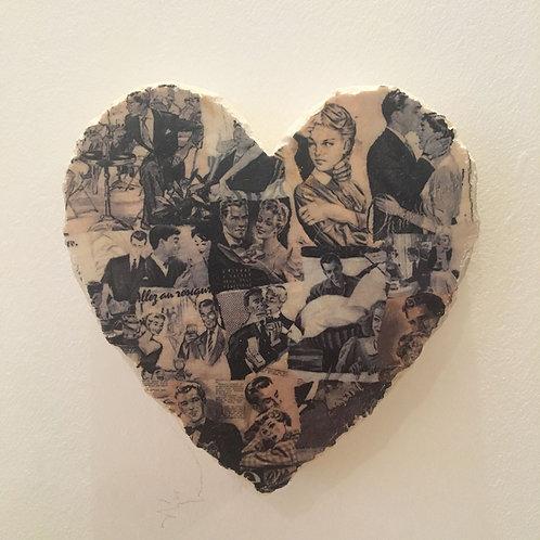 Decaroline Marbre Cœur à suspendre Couple noir & blanc