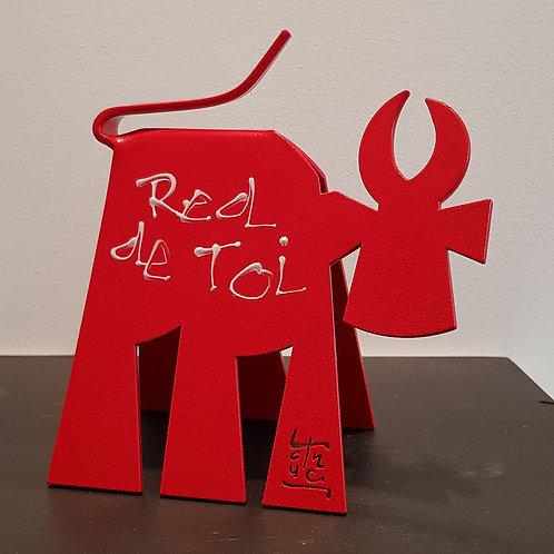 VanLuc Vache de Métal format S monochrome Red de Toi création 1