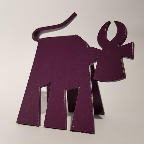 VanLuc Vache de Métal Mini-VaVa monochrome violet pourpre