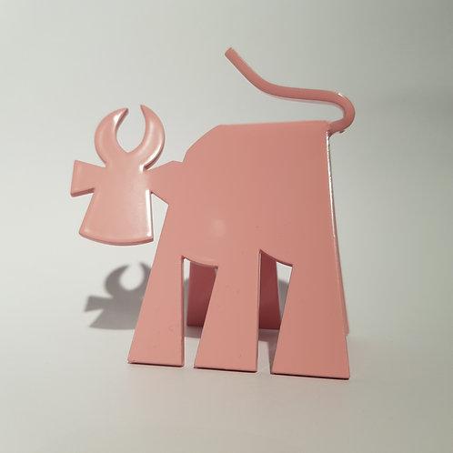 VanLuc Vache de Métal Mini-VaVa monochrome rose poudré