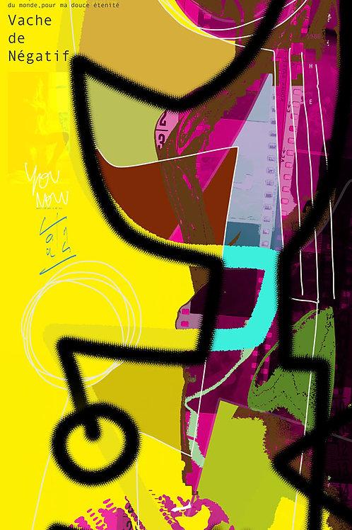 VanLuc Digital Art Vache de Négatif