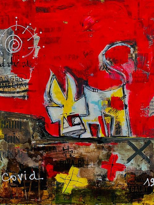 VanLuc Tableau Vache de Covid avec présentation AUDIO