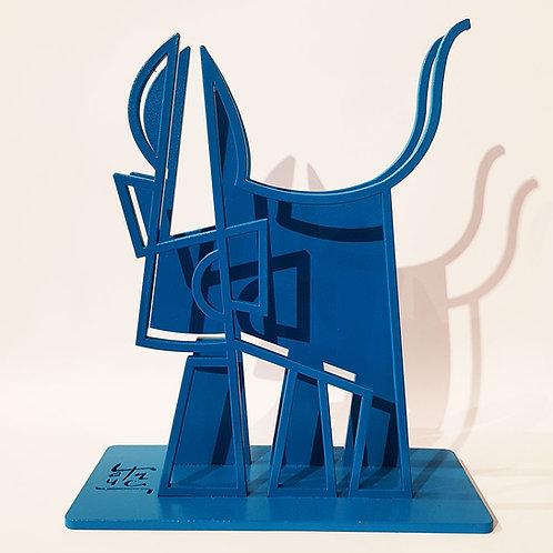 Vache de Métal EvEa double format M monochrome bleue