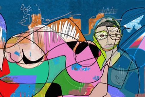 VanLuc Digital Art Vache de Night