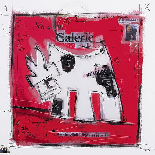 VanLuc œuvre reproduite sur métal Vache de Galerie