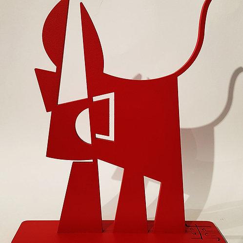 Vache de Métal EvEa format M monochrome rouge