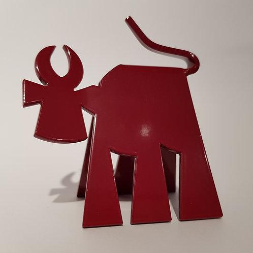 VanLuc Vache de Métal Mini-VaVa monochrome rouge carmin