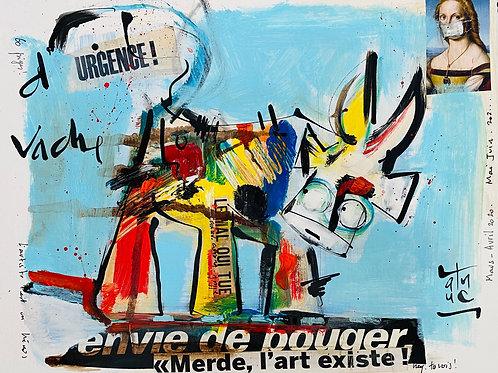 """VanLuc Dessin collection Ouverture 11 """"Vache d'Urgence"""""""