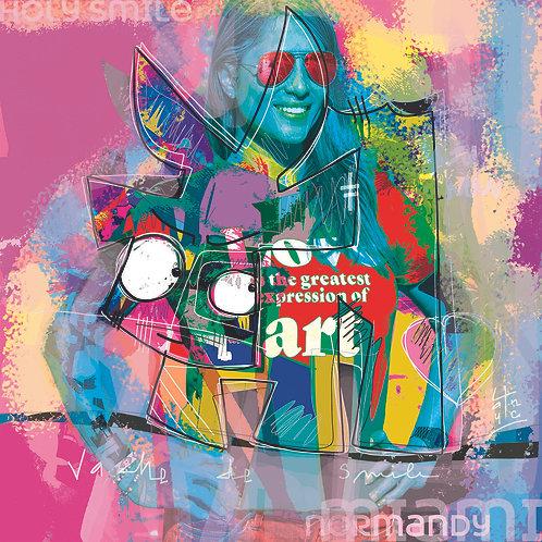 VanLuc Digital Art Vache de Smile