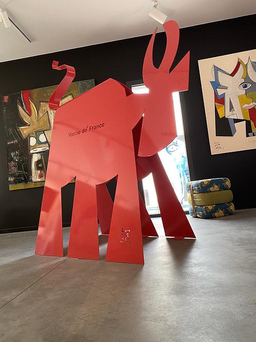 """VanLuc Vache de Métal """"France"""" 180cm"""