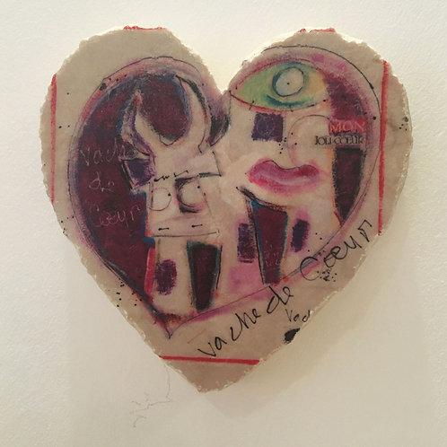 VanLuc Marbre Cœur à suspendre Vache de Coeur