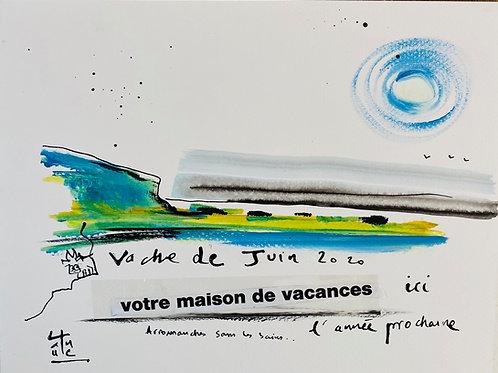 """VanLuc Dessin collection Ouverture 16 """"Vache de juin 2020"""""""
