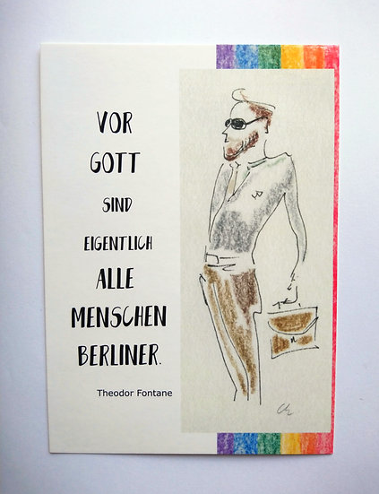 "8er-Postkarten-Set Motiv ""Berliner"""