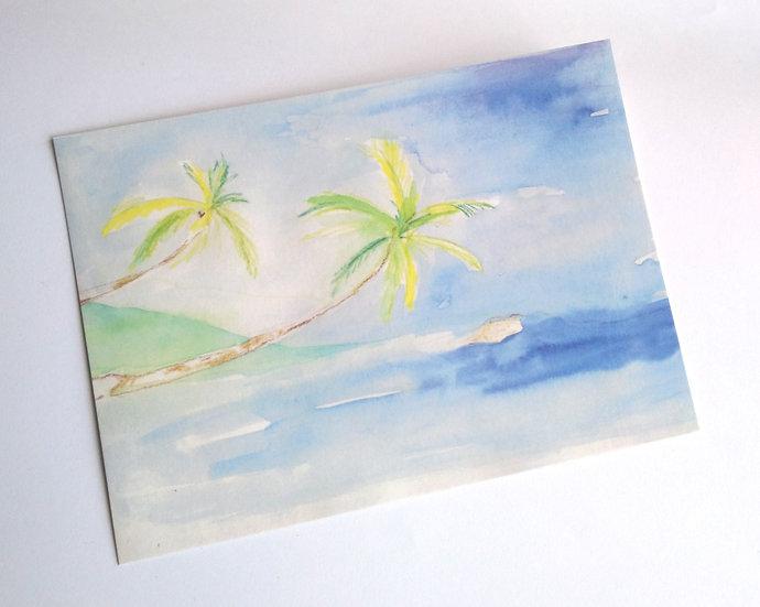 """8er-Postkarten-Set Motiv """"Palmen"""""""