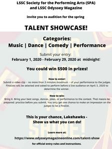 Talent Showcase flyer