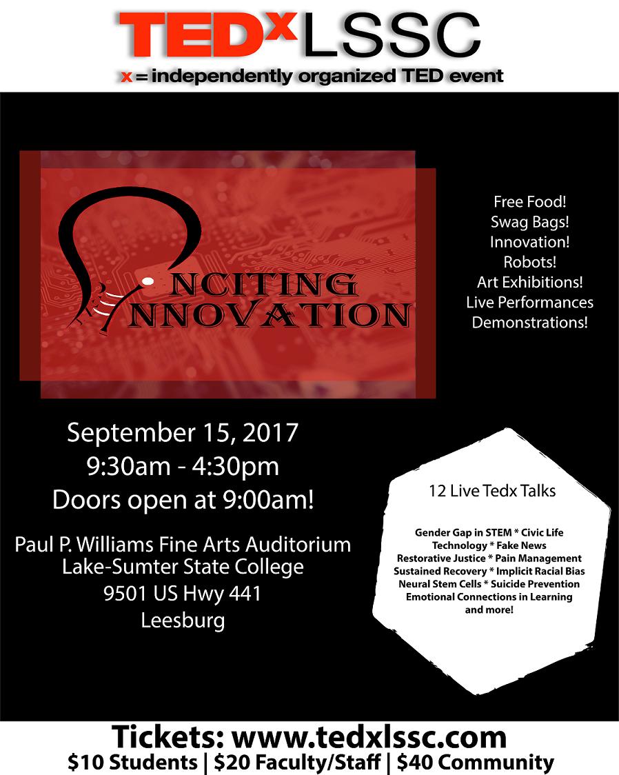 TEDxLSSC Poster - September 15, 2017