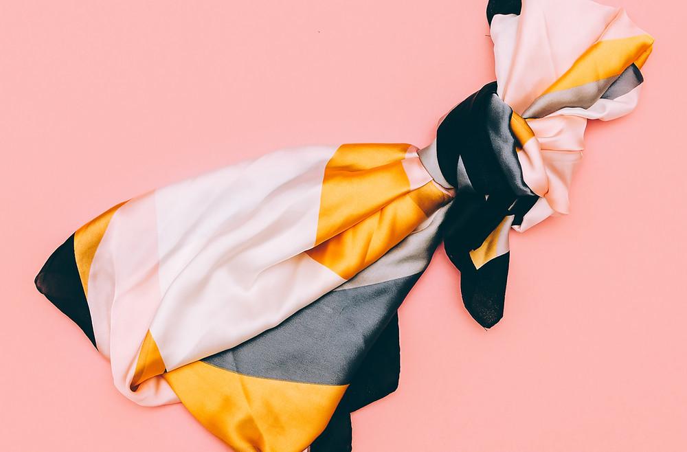 Colourful silk scarf