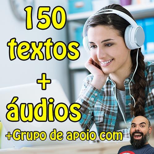 Pdf dos 150 textos em Inglês com Tradução e Áudios separados + CLASSE DE APOIO