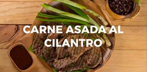 Carne asada al cilantro
