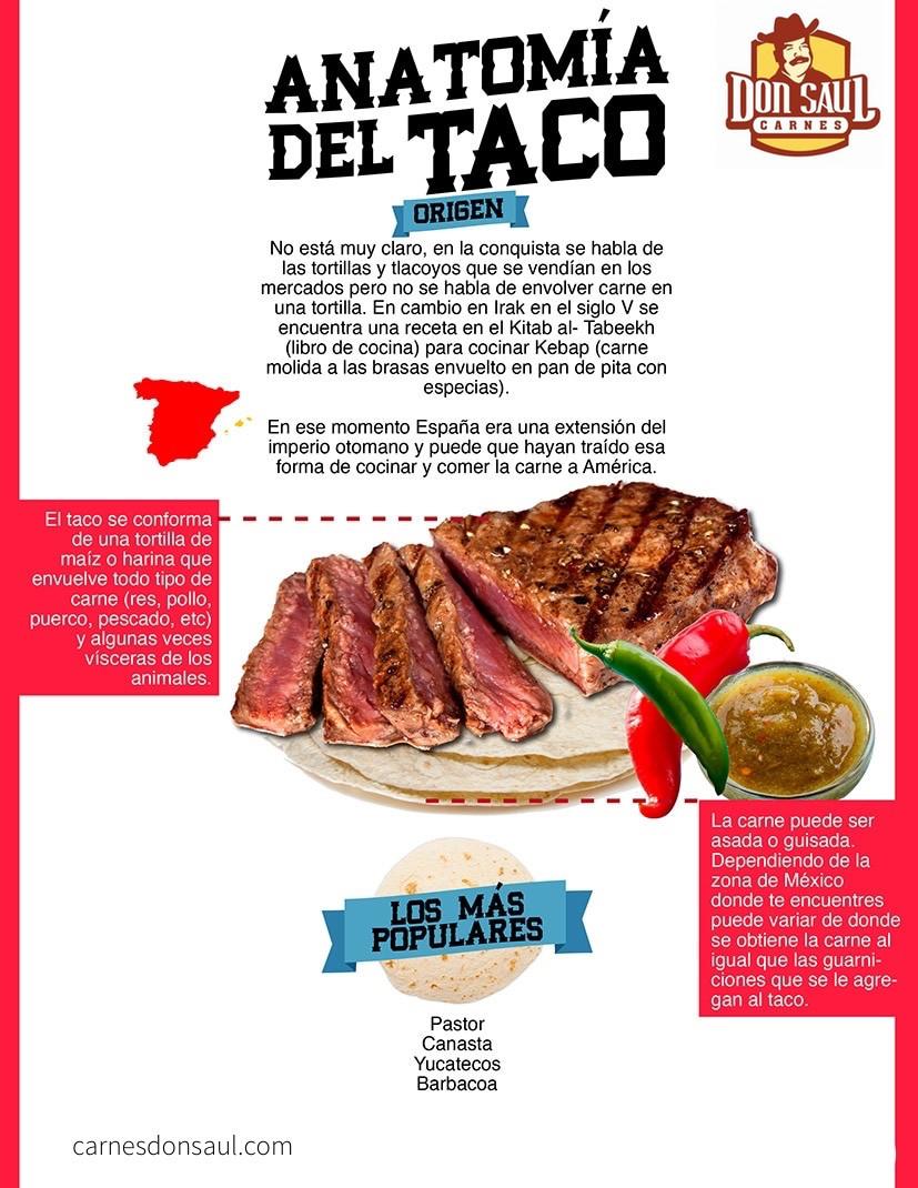 Infográfico anatomía del taco